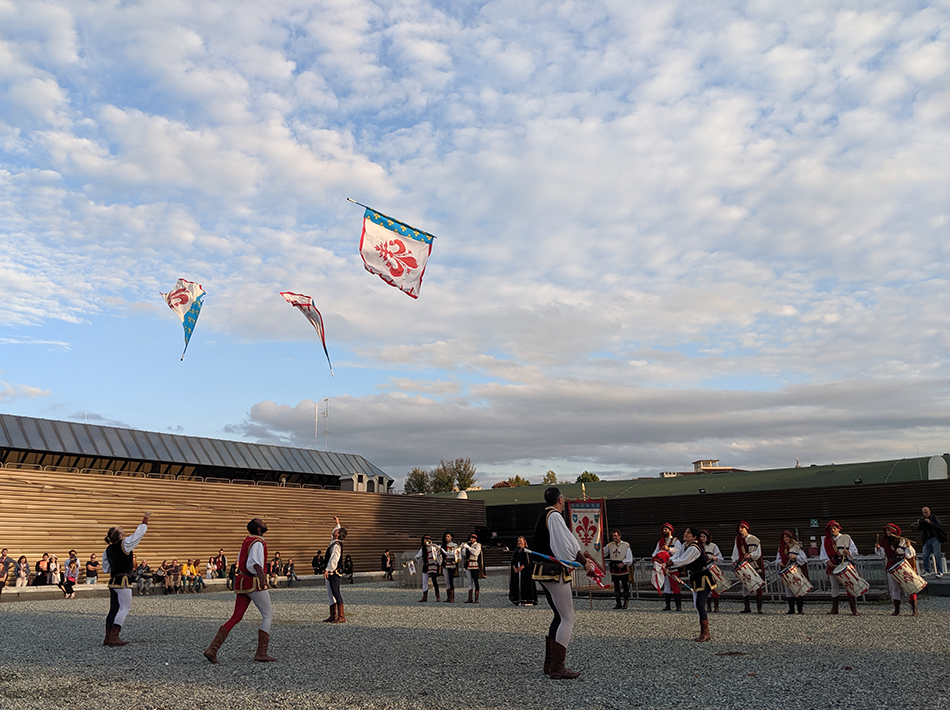 People Celebrating Kite Festival in Florence Biennale - Sangeetha Abhay