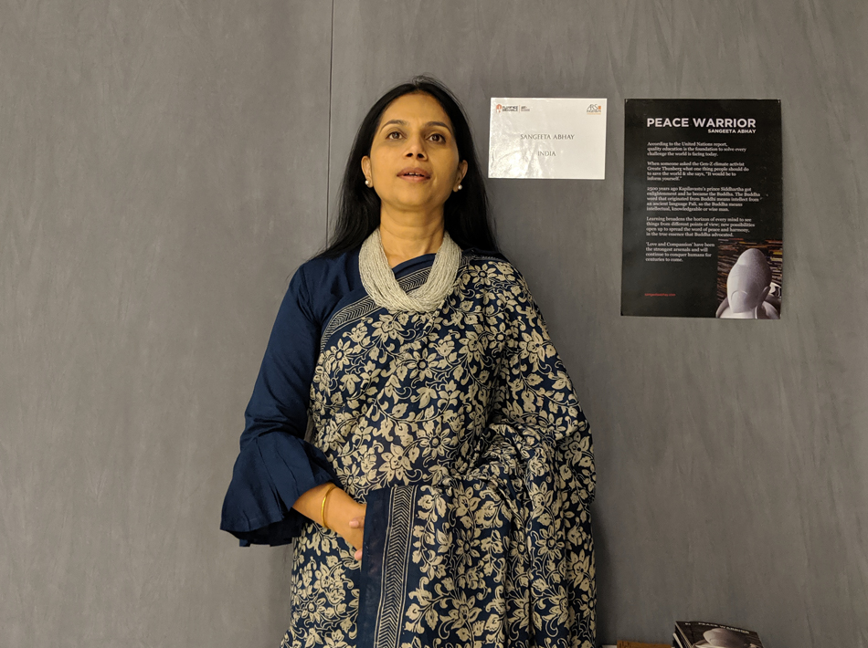 Sangeetha Abhay Speaking about her Peace Sculpture in Florence Biennale