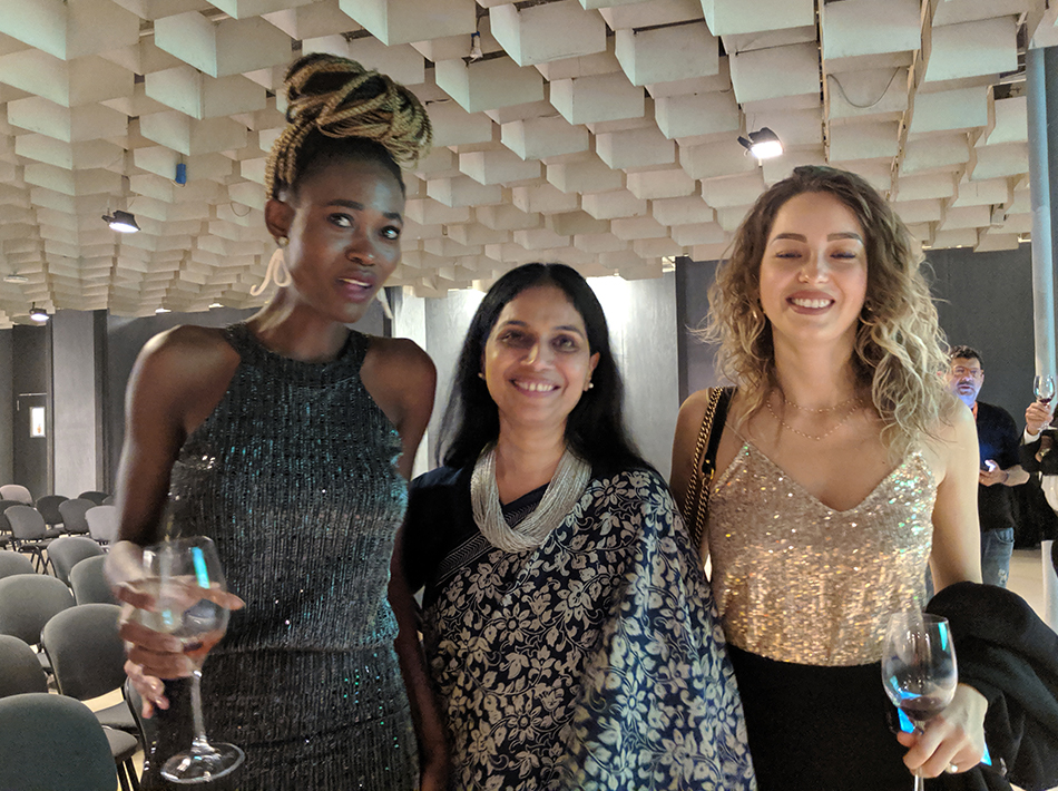 Sangeetha Abhay With her Friends In Florence Biennale