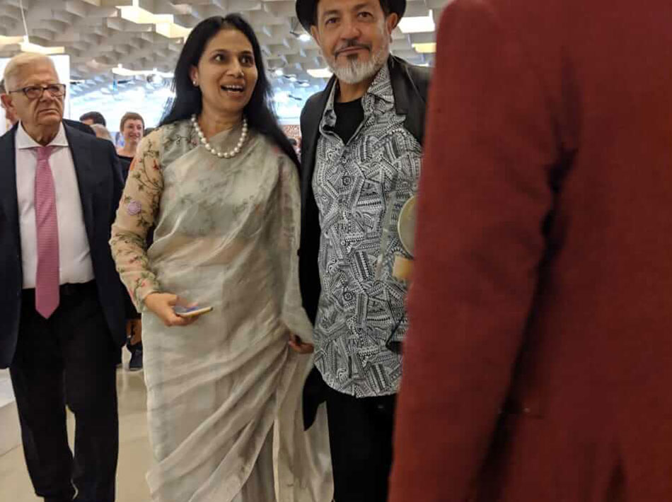 Sangeeta Abhay With Gustavo Aceves in Florence Biennale