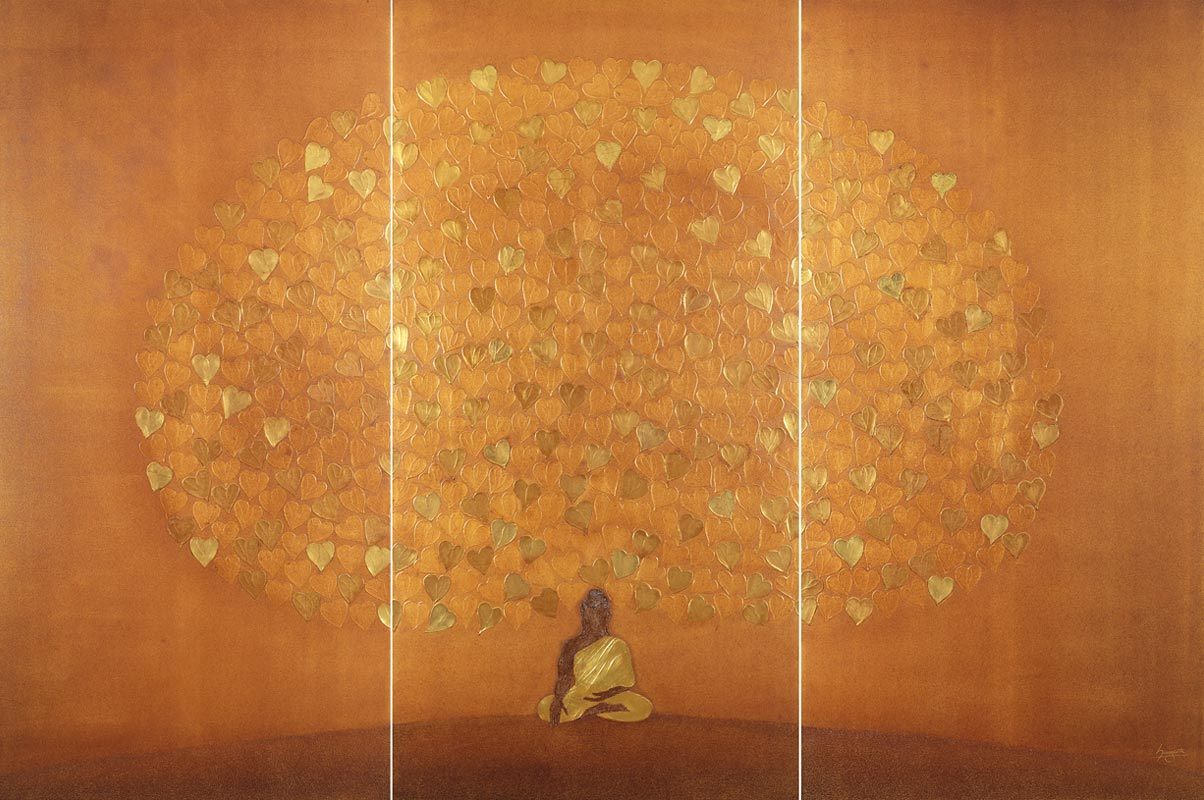 Budhha  Painiting Suvarna - The Golden Blossom