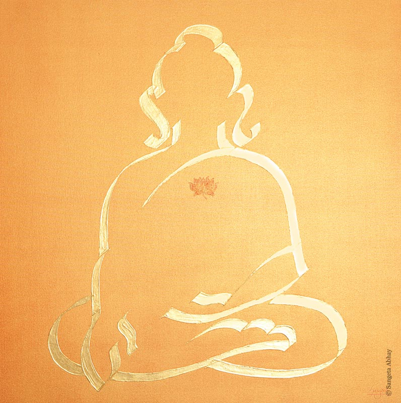 Buddha Painting - Golden Aura