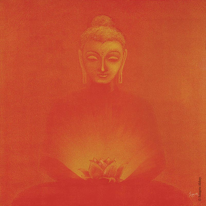 Buddha Painting - The Glow