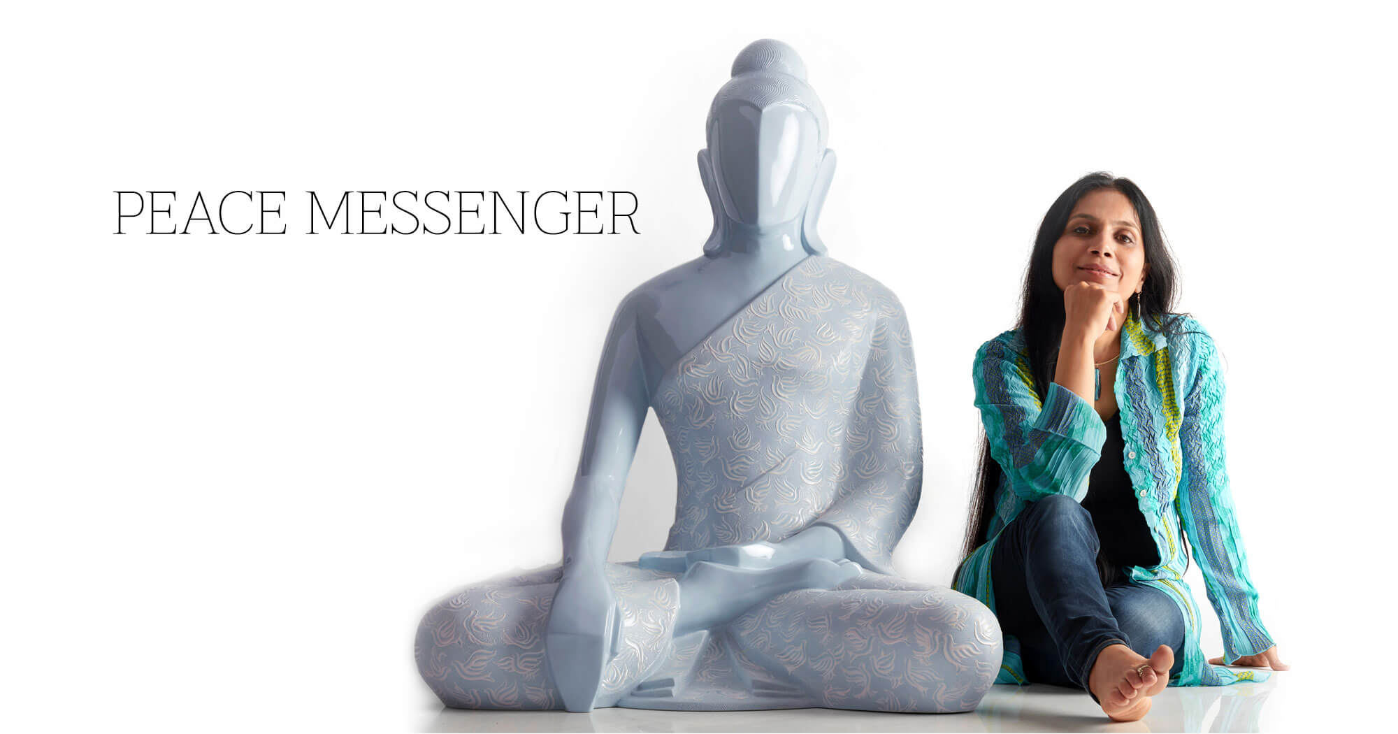 Buddha Bhoomi Peace messenger Sculpture, sculpted by Sangeeta Abhay