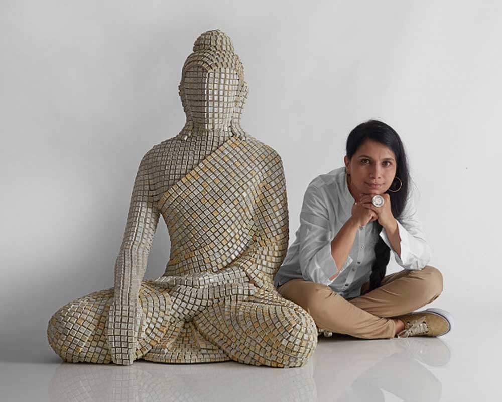 Sangeeta Abhay looking forward to spread the buddha's teaching through his sculpture.