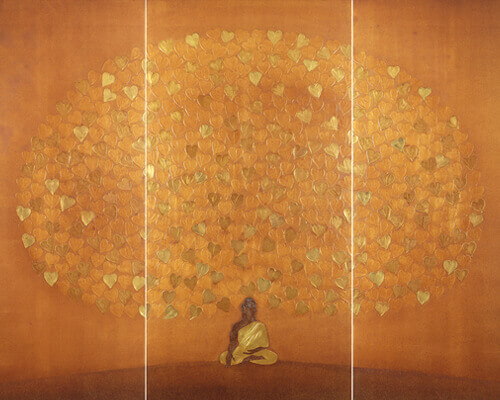 Budhha  Painiting Suvarna - The Golden Blossom Thumbnail